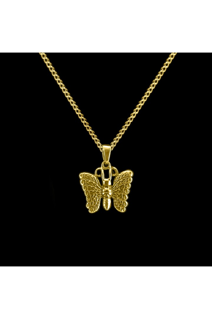 Brass Butterfly Cremation Pendant #36-587